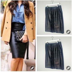 Siena Studio black leather pencil skirt